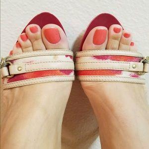 Christian Dior St Tropez Clog Mules Slide Sandals